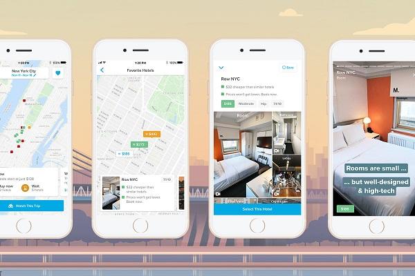 Giao diện app booking khách sạn