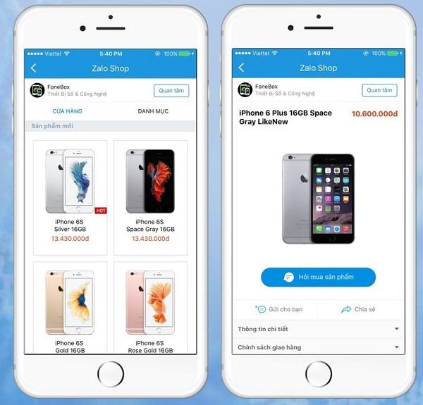 Bmd thiết kế app bán hàng trên mobile