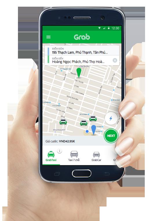Siêu Ứng dụng Grab Bike trên android