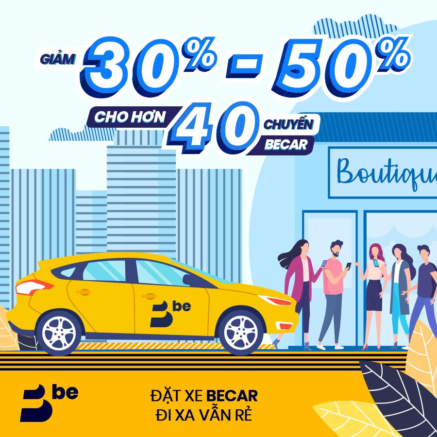 Ứng dụng gọi xe hơi BeCar giảm đến 50% cho hơn 40 chuyến