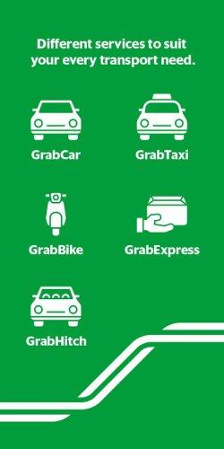 Các phương tiện của ứng dụng gọi xe Grab