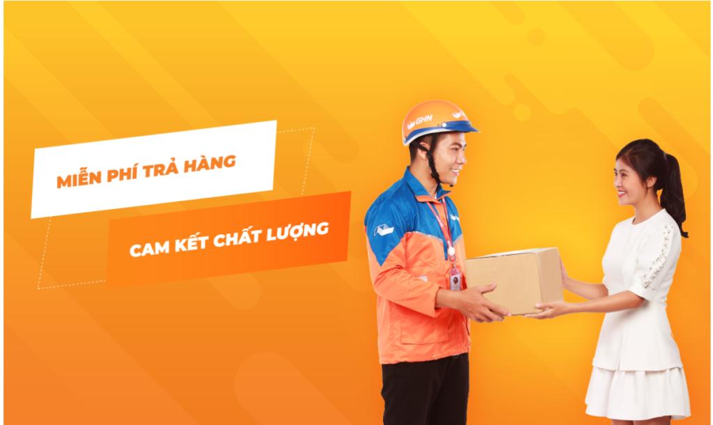 GHN – giao hàng nhanh chóng, dễ đăng ký tài khoản và dễ dàng thiết lập thông tin.