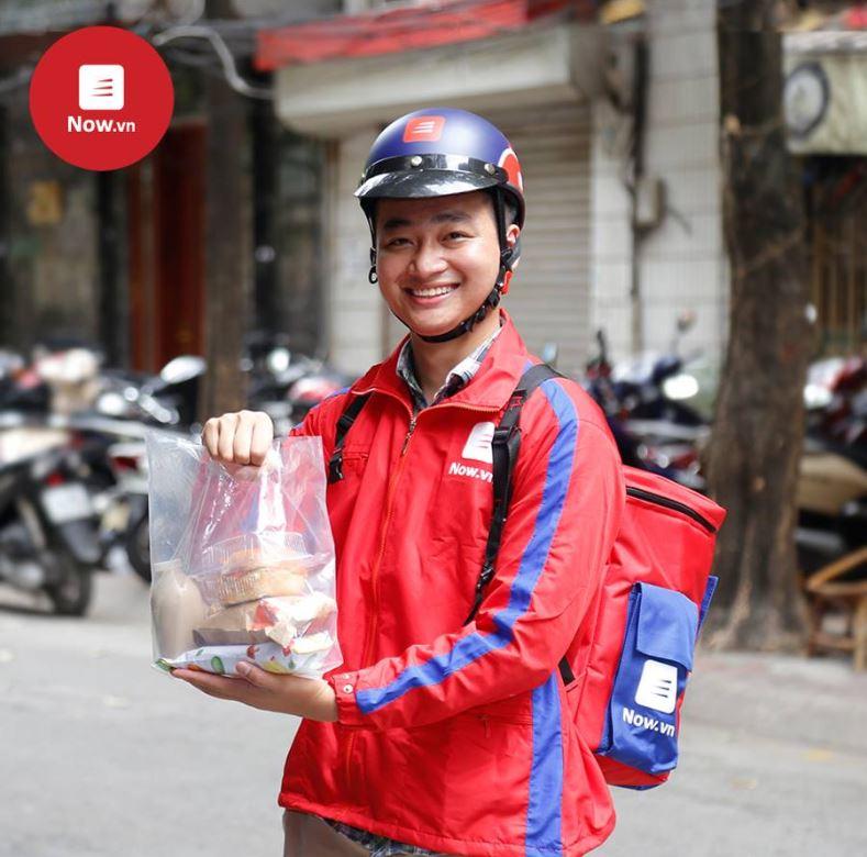Dịch vụ giao đồ ăn tận nhà Now.vn