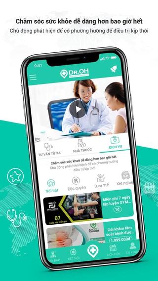 Ứng dụng đặt lịch khám online Dr.OH