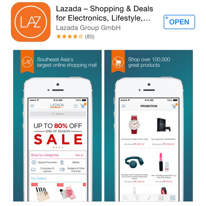 App bán hàng online Lazada