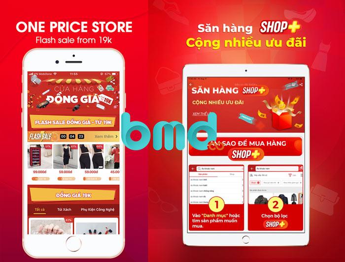 App bán hàng online Sendo