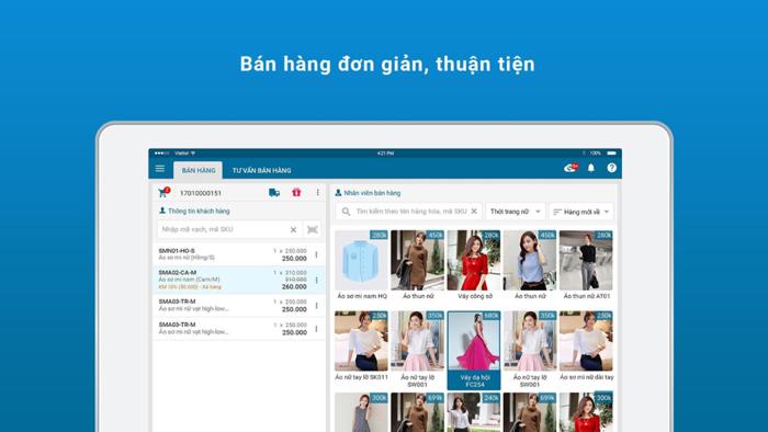 App quản lý bán hàng online mshopkeeper bán hàng đơn giản