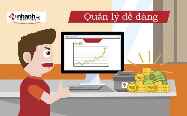 App quản lý bán hàng online nhanh.vn quản lý dễ dàng