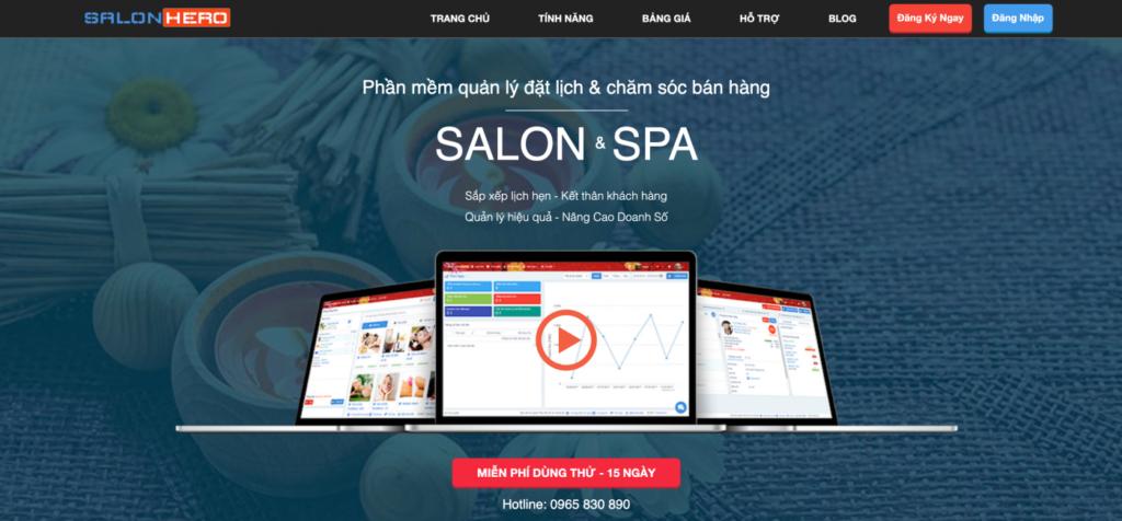 Phần mềm đặt lịch hẹn salon Hero