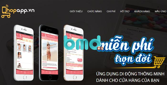 Phần mềm tạo app shopapp.vn