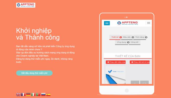 Tạo app bán hàng miễn phí bằng appteng