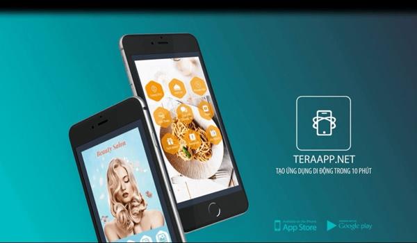 Tạo app bán hàng miễn phí bằng teraapp.net