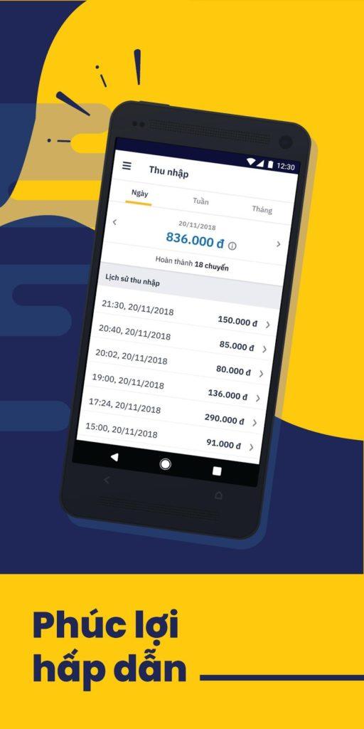 Thu nhập của tài xế trên ứng dụng gọi xe be