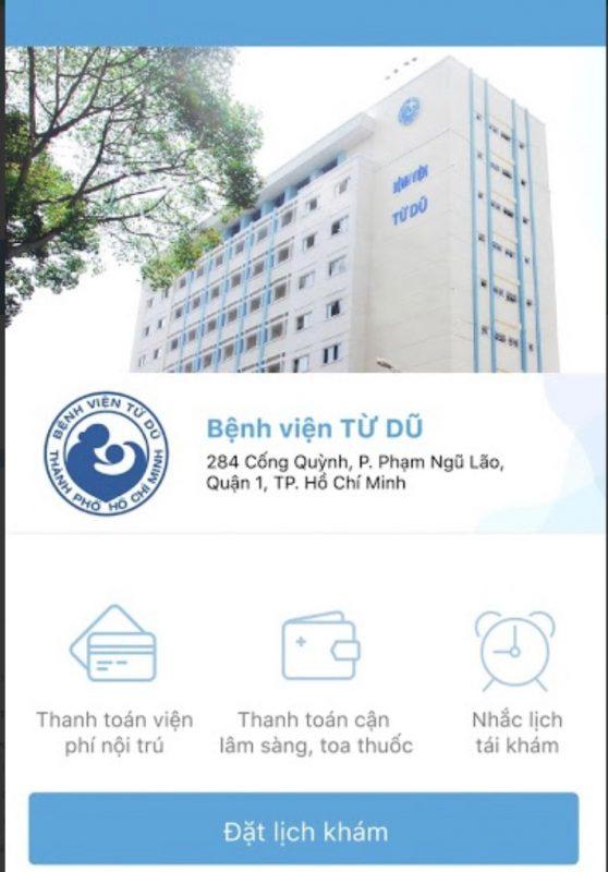Đặt lịch hẹn khám bệnh viện Từ Dũ qua ứng dụng YouMed