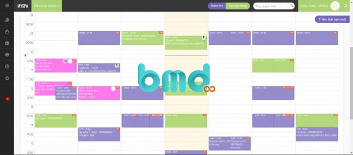 App đặt lịch MySpa