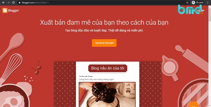 Blogspot - Tạo website miễn phí