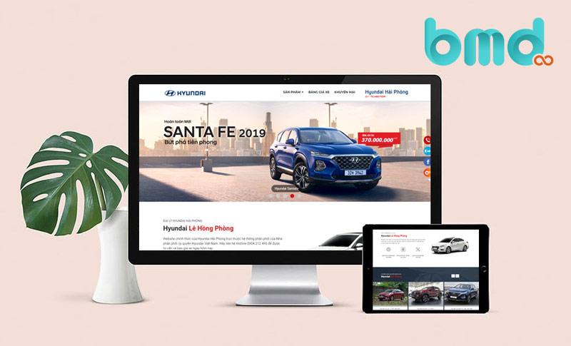 Công ty bmd thiết kế website ô tô chuẩn seo