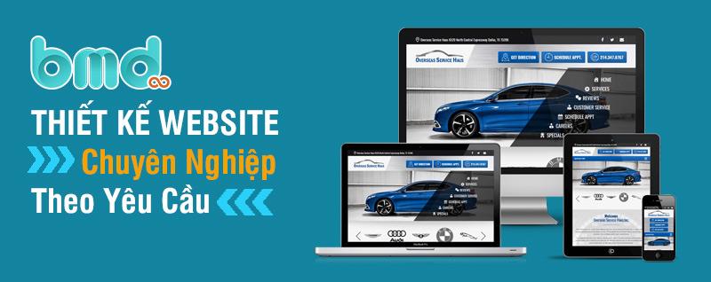 Dịch vụ thiết kế website ô tô