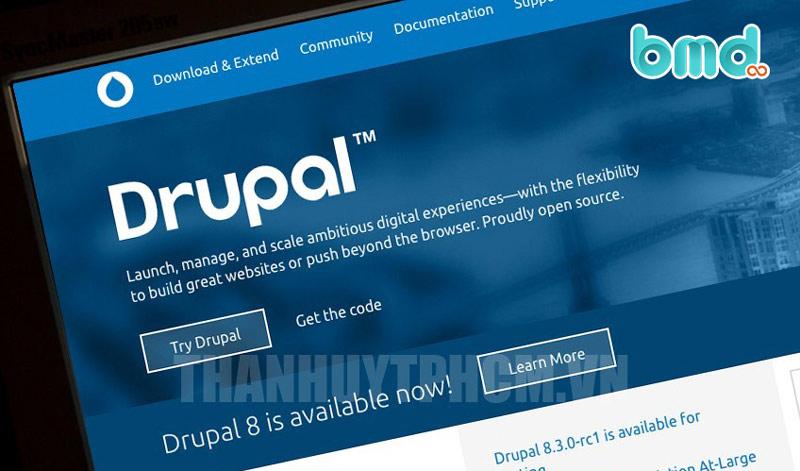 Phần mềm mã ngồn mở thiết kế web Drupal