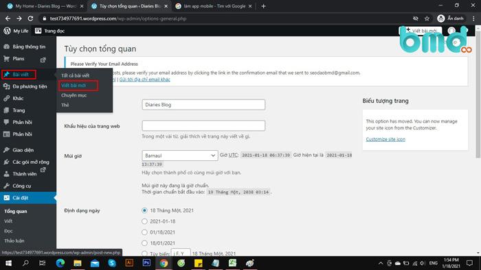 hướng dẫn tạo bài viết mới trong trang quản trị wordpress