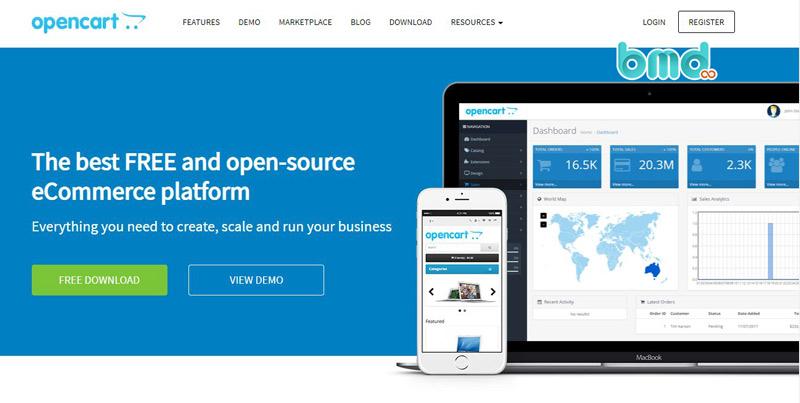 Phần mềm mã nguồn mở OpenCart