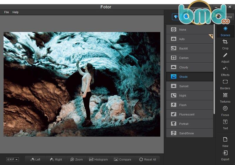 Phần mềm chỉnh sửa ảnh Fotor
