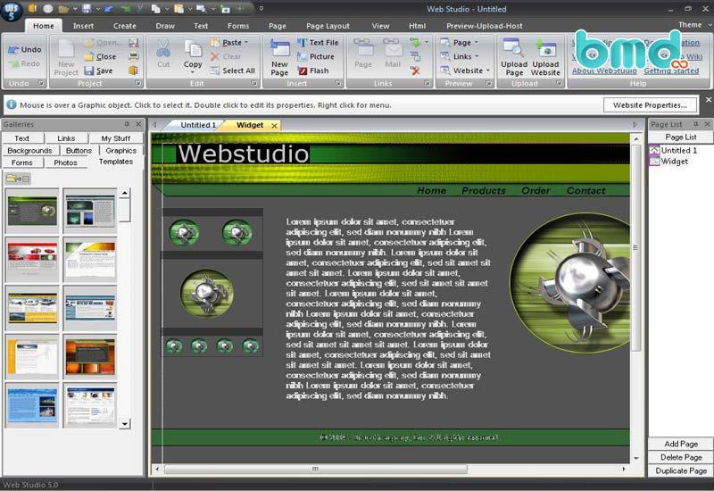 Phần mềm Webstudio