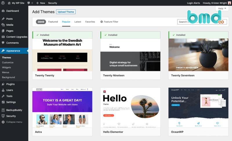 Phần mềm thiết kế web wordpress