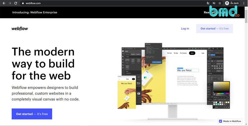 Tạo web trên webflow