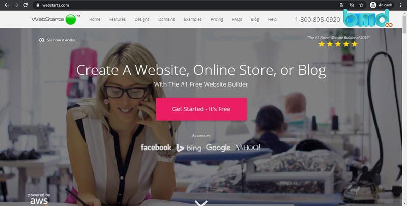 Tạo web bằng webstarts