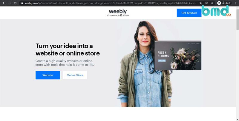 Weebly - Tạo web miễn phí