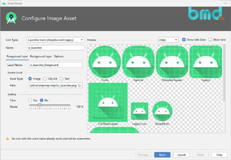 Công cụ hỗ trợ lập trình android Image asset studio