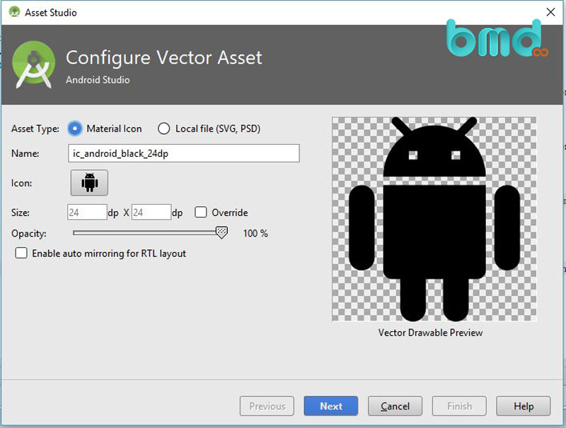 Công cụ vector asset studio