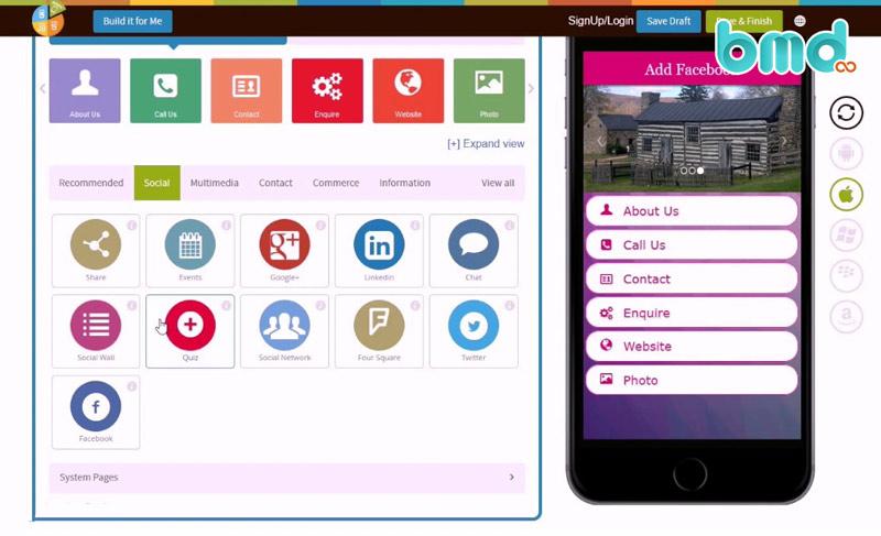 Tạo ứng dụng mobile với Appypie