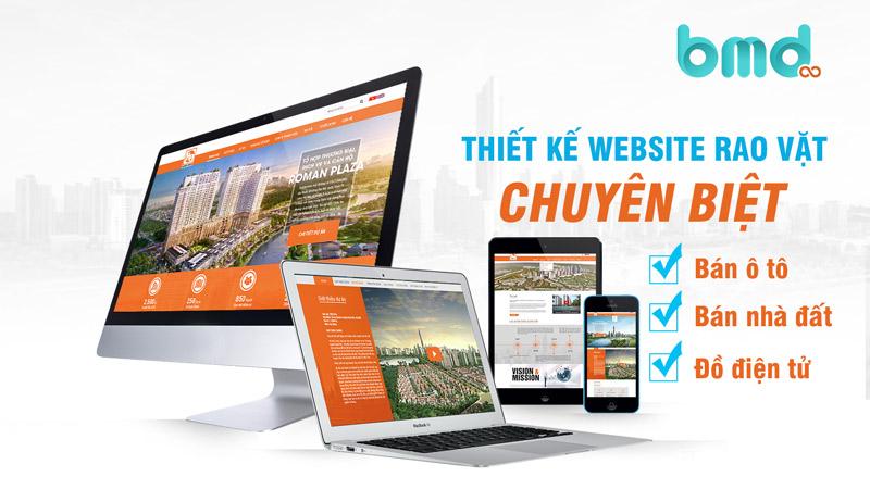 Thiết kế website rao vặt chuyên biệt