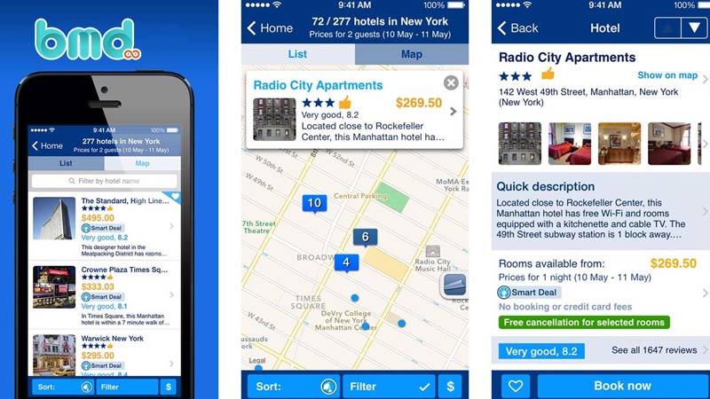 App đặt tour du lịch Booking.com
