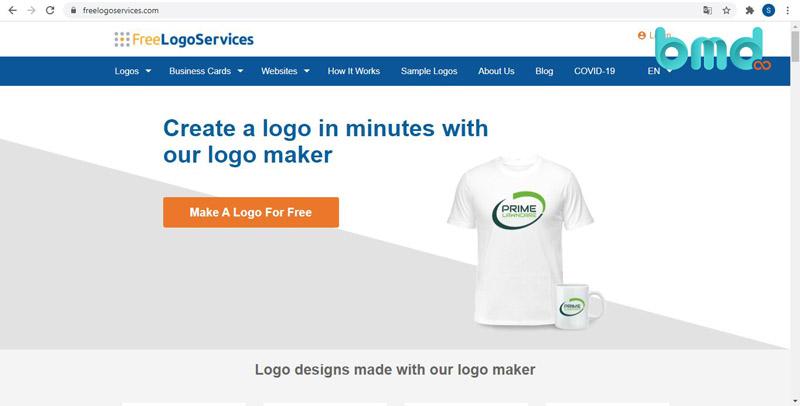 Website tạo logo Free Logo Services
