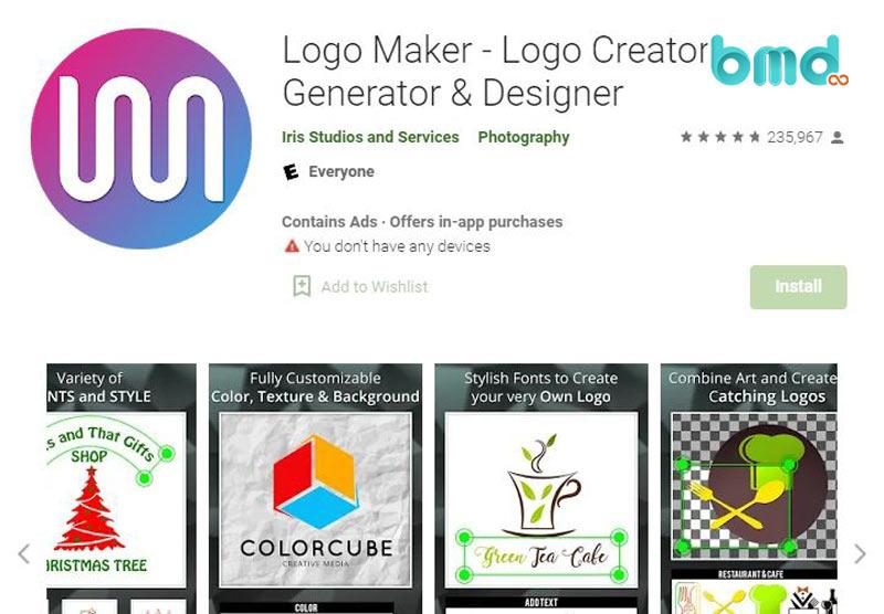 Ứng dụng tạo logo Iris Logo Maker