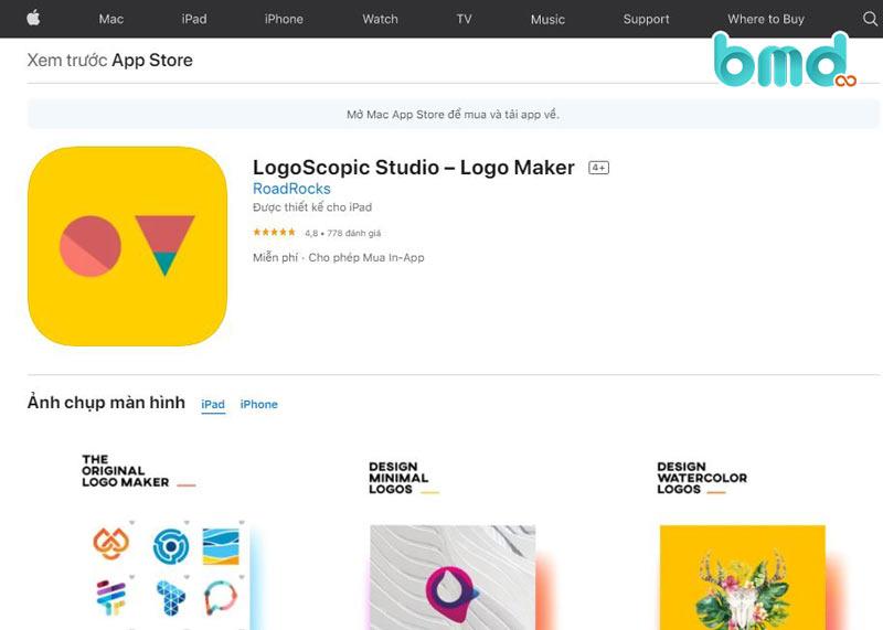 App thiết kế logo LogoScopic Studio