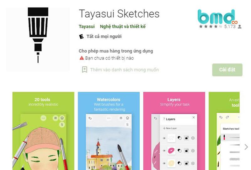 Thiết kế logo bằng Tayasui Sketches