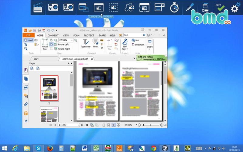Công cụ screen Ashampoo Snap