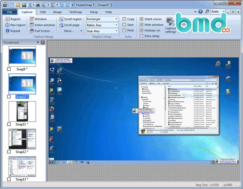 Phần mềm chụp màn hình HyoerSnap