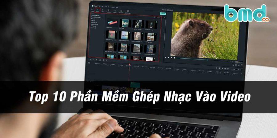 Top phần mềm ghép nhạc vào video