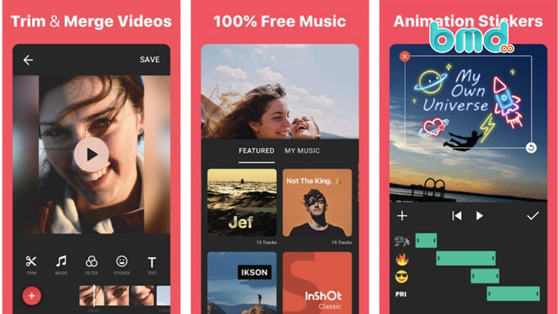 Phần mềm ghép nhạc vào video InShot