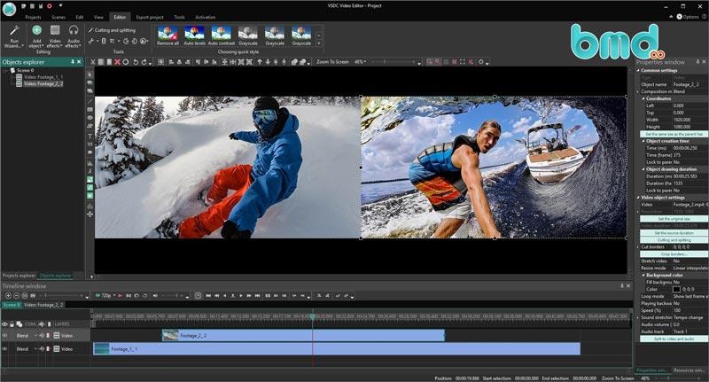 Phần mềm ghép nhạc vào video VSDC Video Editor