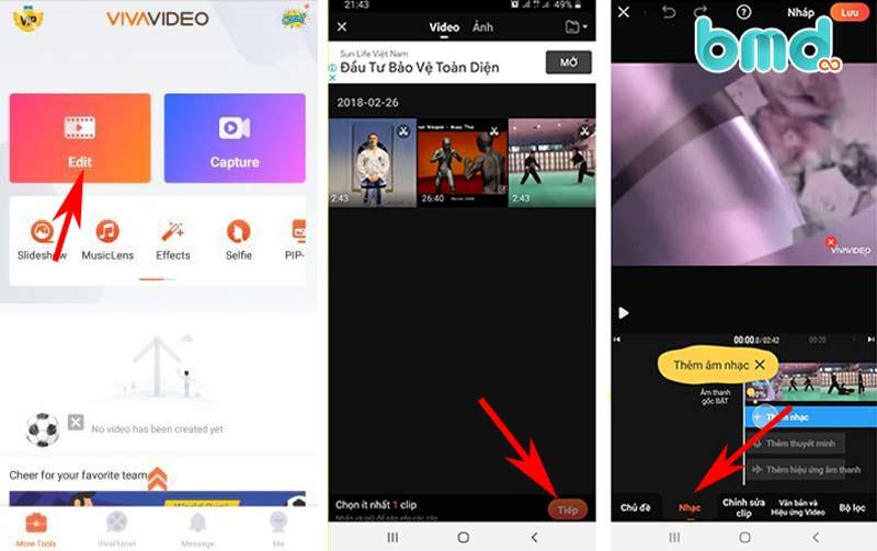 Phần mềm chỉnh sửa video - Vivavideo