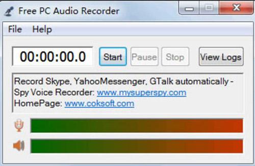 Phần mềm ghi âm pc Audio Recorder