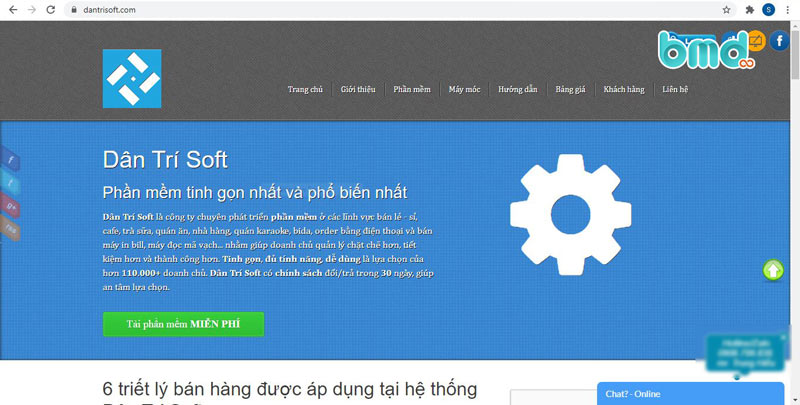 Phần mềm quản lý bán hàng miễn phí Dantrisoft