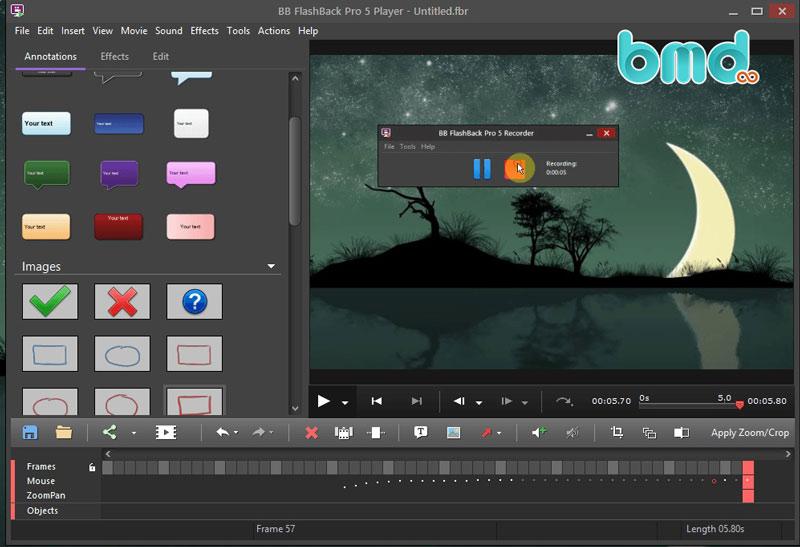 Phần mềm quay màn hình FlashBack Express