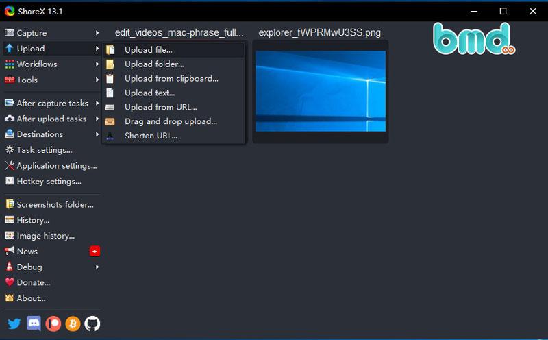 Phần mềm quay màn hình ShareX